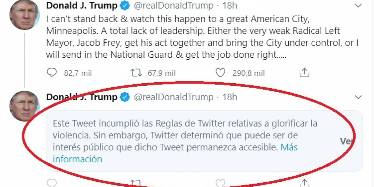 Trump Vs Twitter: una batalla que se intensifica a medida que pasan las horas