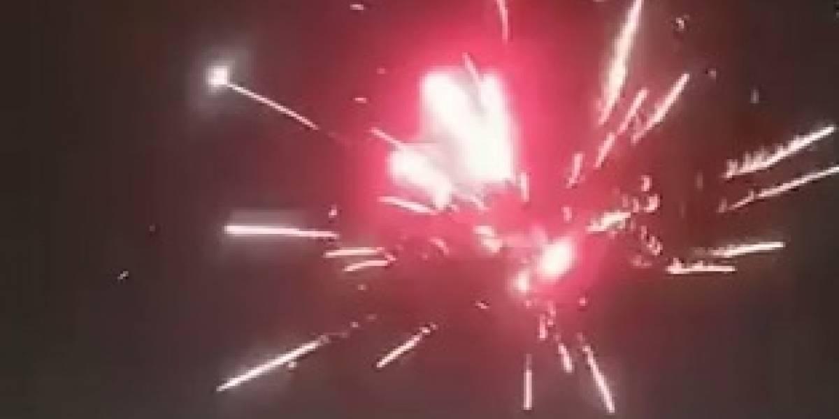 """""""No somos narcos, somos ladrones"""": el impactante video de fuegos artificiales en La Pintana"""