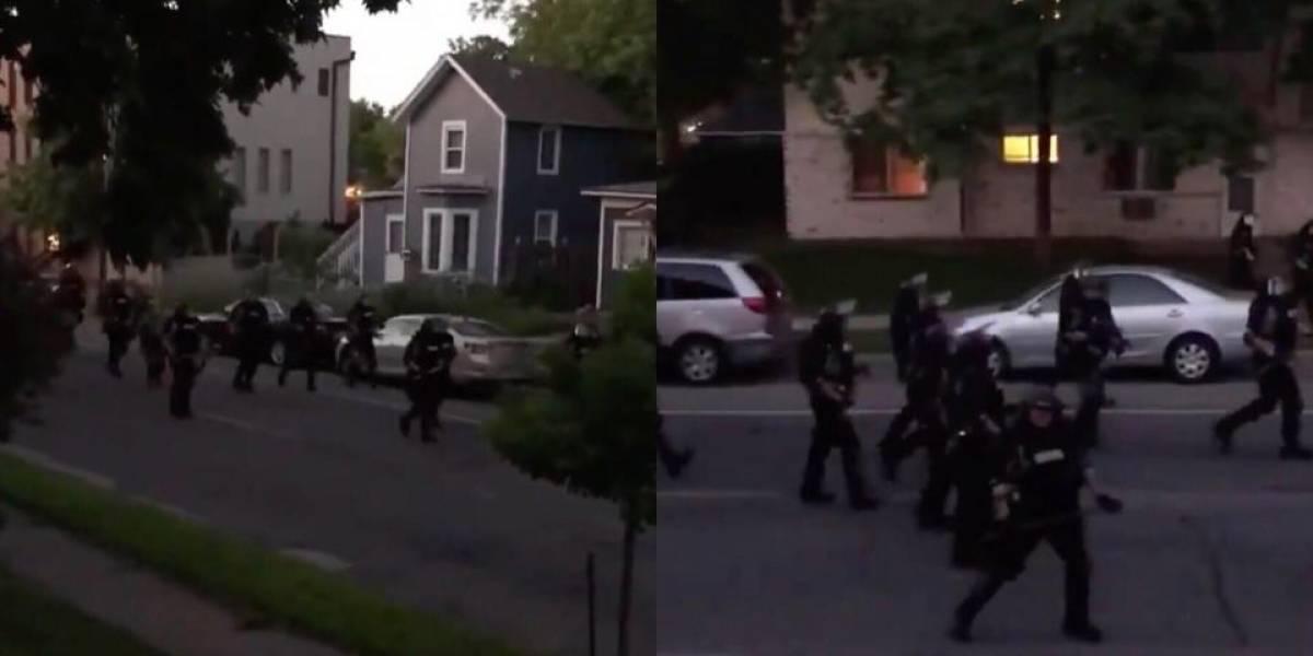 Se filtra video en el que policía dispara objeto a ciudadana que se encontraba dentro de su hogar