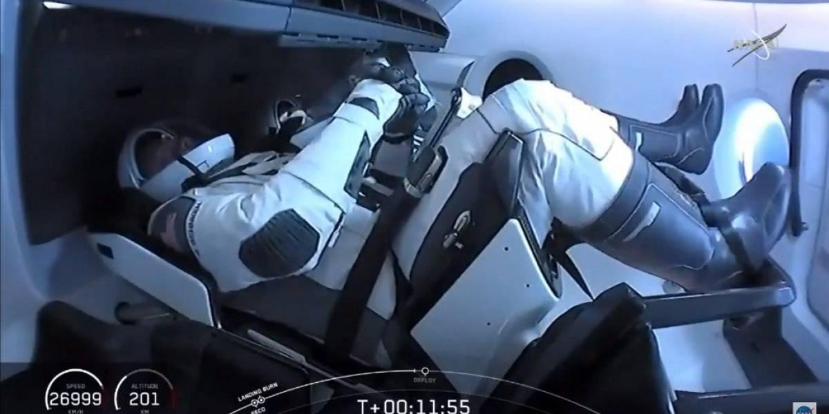 ¡Lo lograron! Cápsula de SpaceX con dos astronautas se acopló a la Estación Espacial Internacional