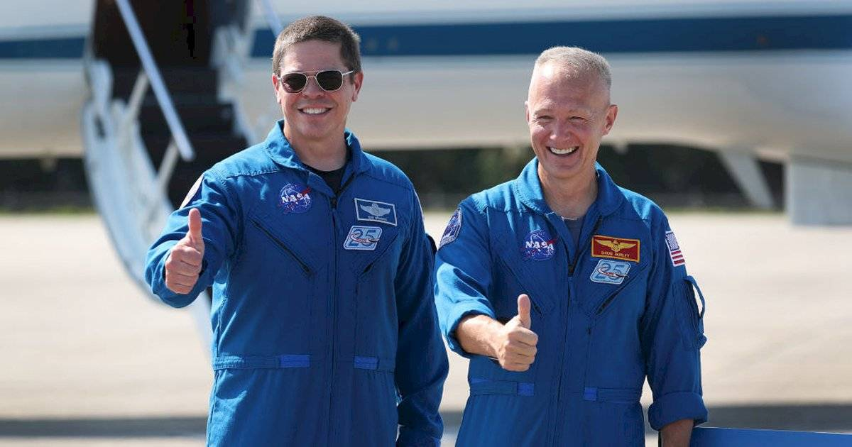 Bob Behnke e Doug Hurley, astronautas da SpaceX