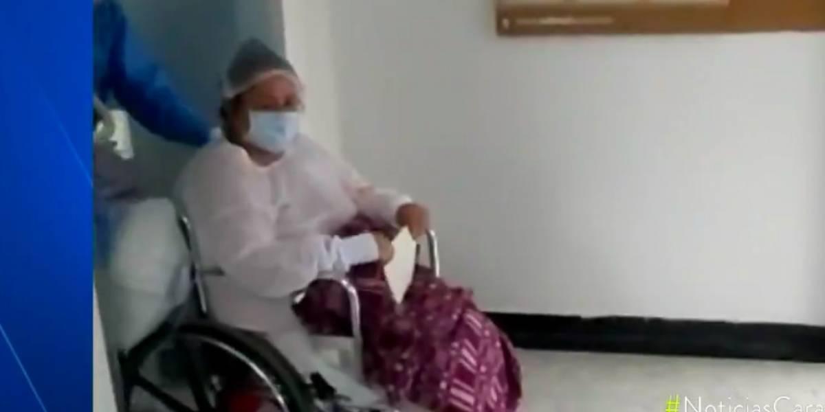 ¡Excelente! Empleada de hospital bogotano le ganó la batalla al coronavirus luego de estar en estado crítico