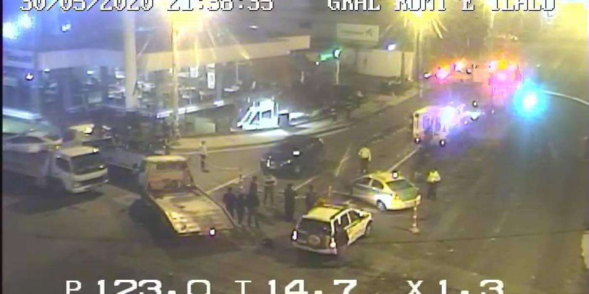 Dos heridos tras choque múltiple en la Autopista General Rumiñahui