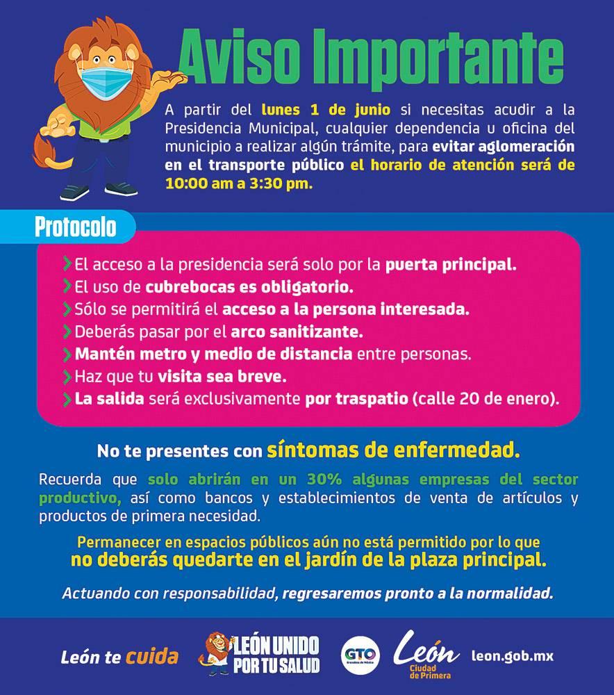 Anuncio Gobierno de Guanajuato edición León del 01 de junio del 2020, Página 05