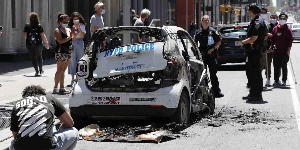 Una nueva noche de saqueos, disturbios y violencia callejera en Nueva York