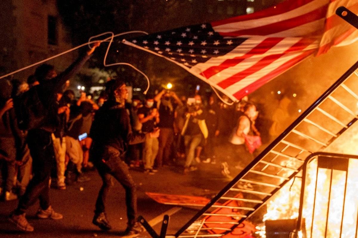 Protestas en la Casa Blanca EFE