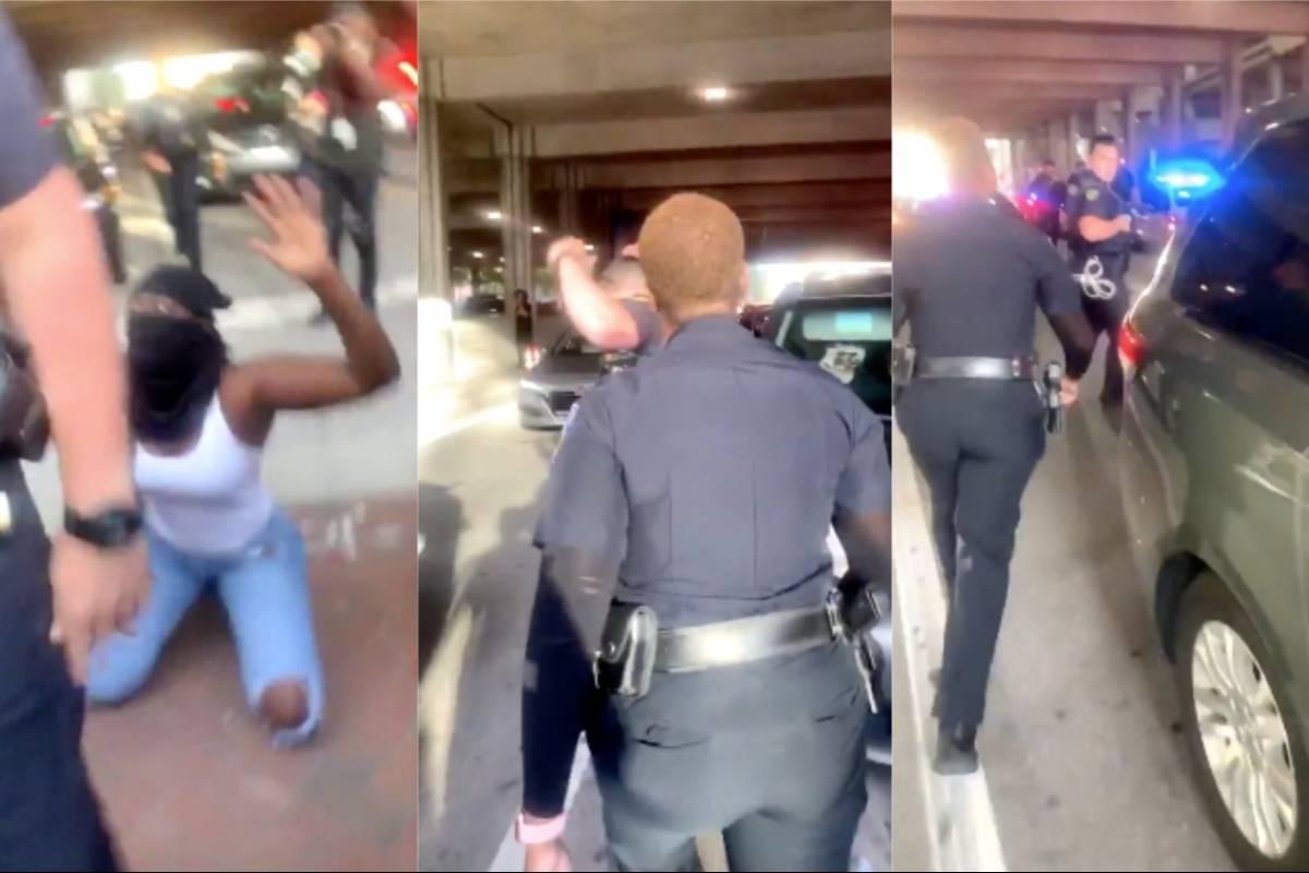 Policía afroamericana defiende a manifestante de policía blanco ...