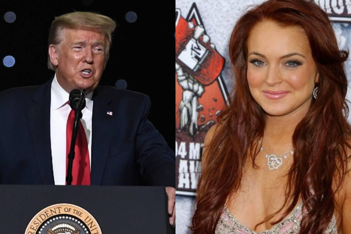 """""""En la cama"""": filtran supuesto audio de Trump sobre Lindsay Lohan"""