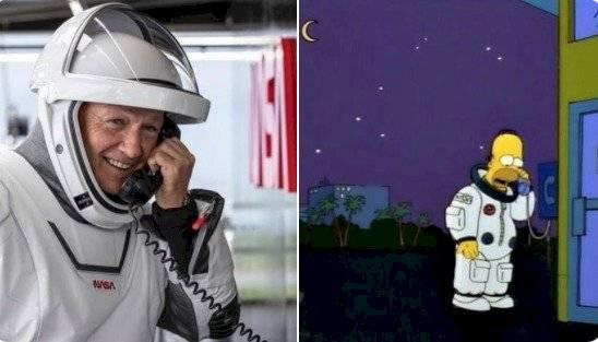 Los Simpson jugaron su papel de profetas respecto al lanzamiento al espacio.