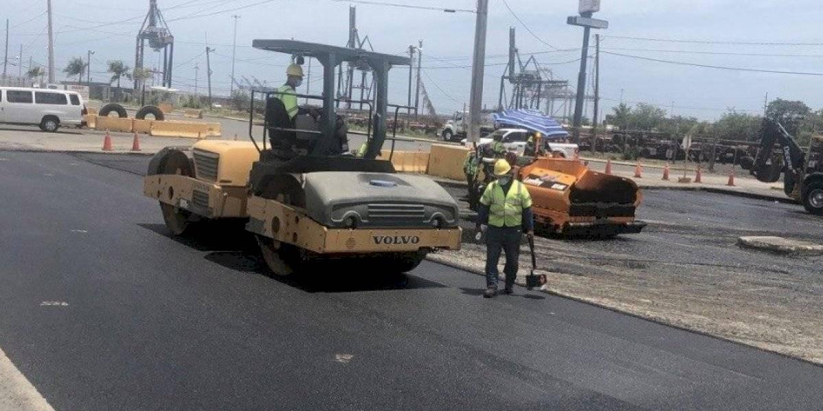 Reanudan repavimentación en Zona Portuaria de Puerto Nuevo