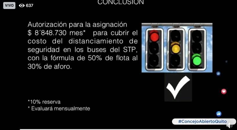 Tarifa Cero para el transporte público en Quito