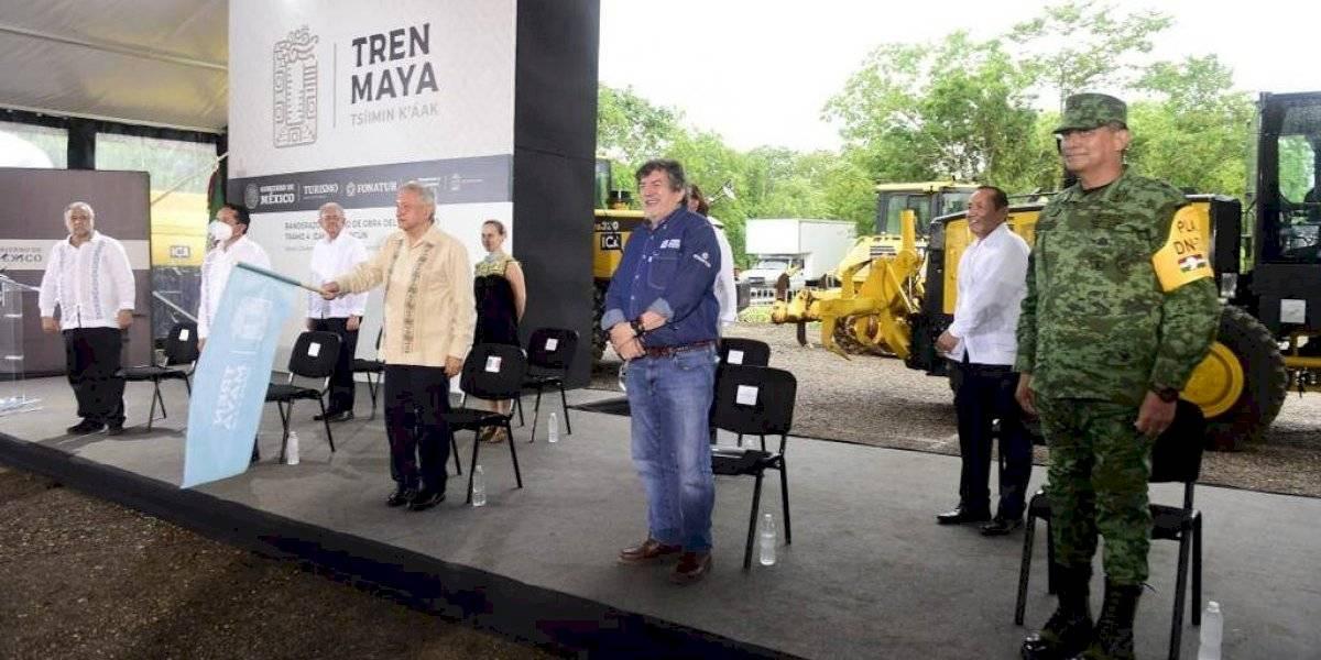 AMLO da banderazo a obras del cuarto tramo del Tren Maya; costará 27 mil mdp