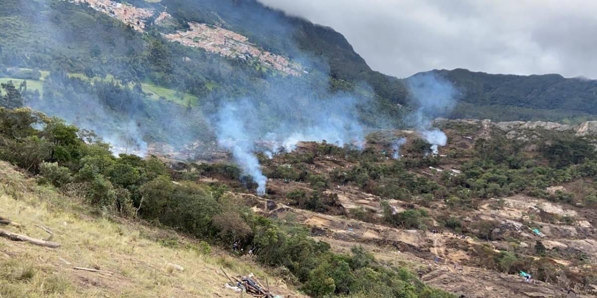 Imágenes impactantes de desastre ambiental por manos criminales en Bogotá