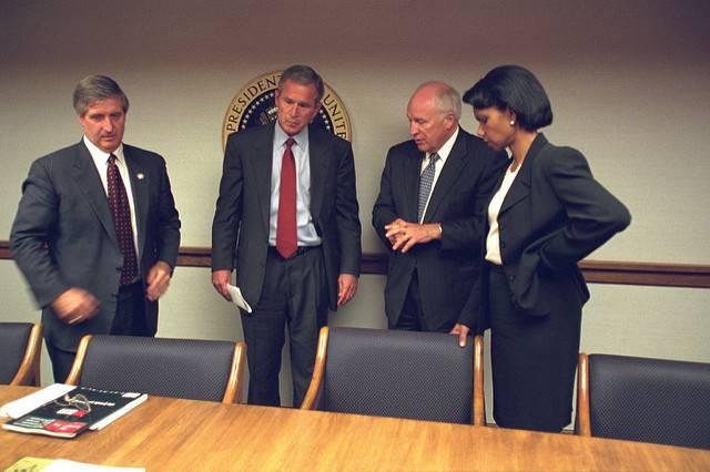 George Bush en el búnker, 11 de septiembre de 2001.