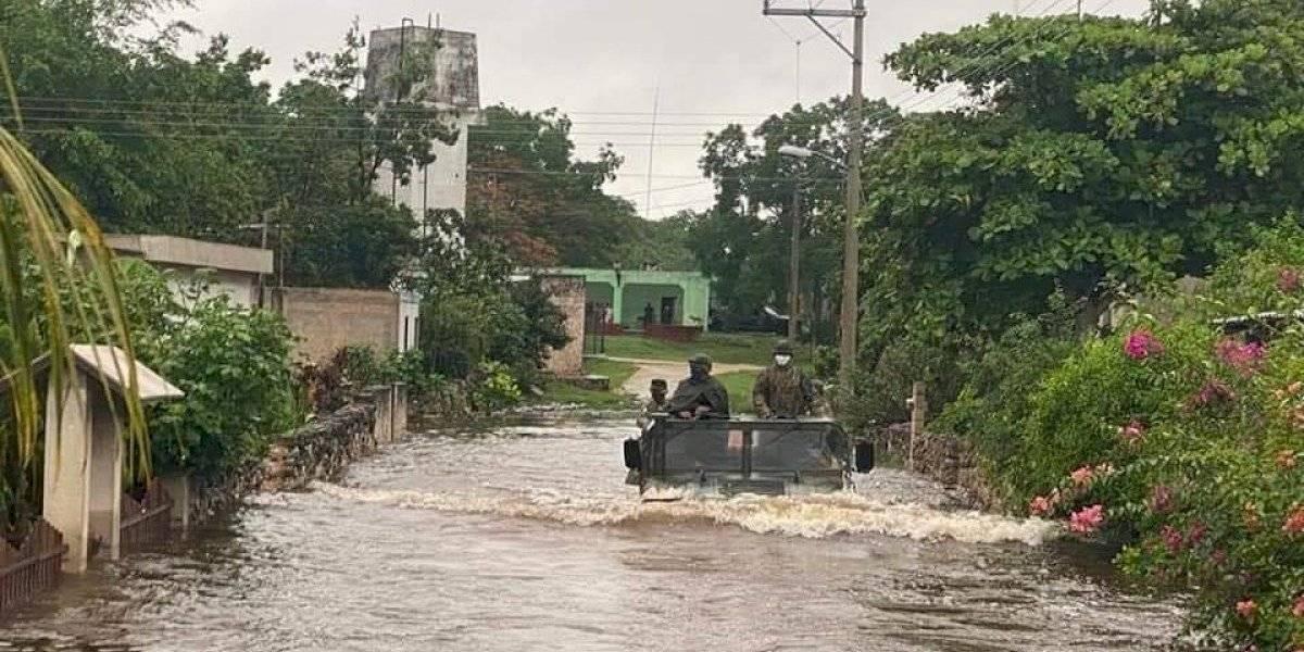 FOTOS: Fuerte tormenta en Yucatán provoca inundaciones y evacuación de familias