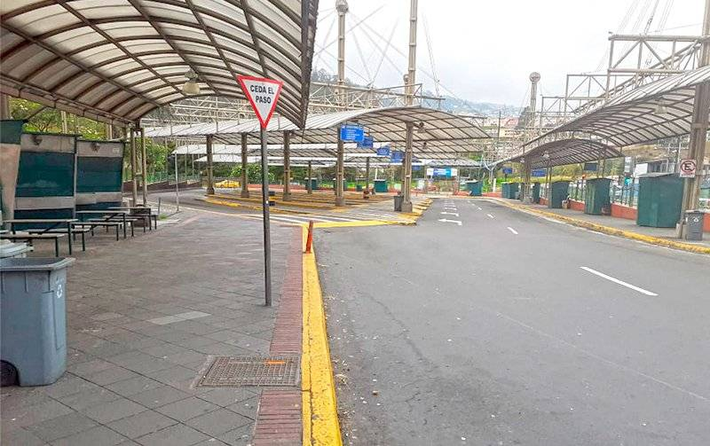 Paradas de buses en Quito