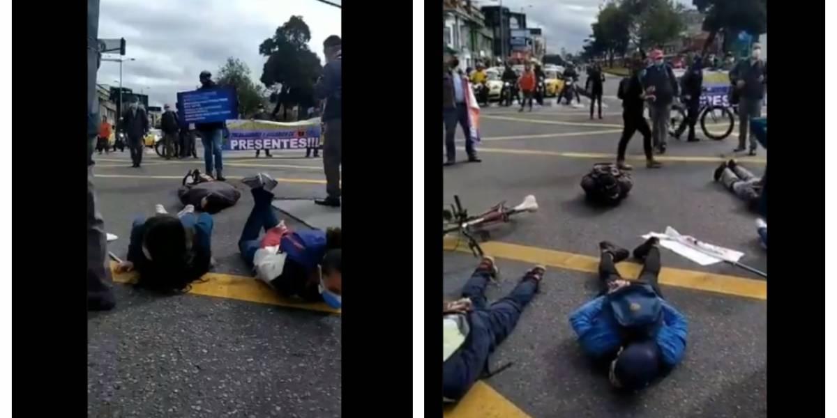 (VIDEO) Trabajadores de TM protestan por suspensión de contratos