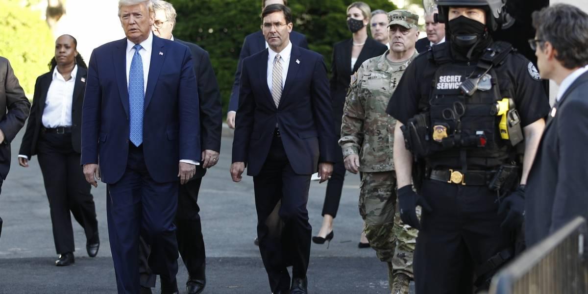 Secretario de Defensa se opone a usar fuerzas armadas por protestas en Estados Unidos