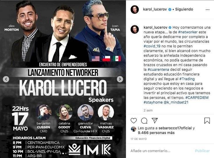 Foto: Karol Dance junto a los líderes de Mastery IM Academy / Foto: Instagram