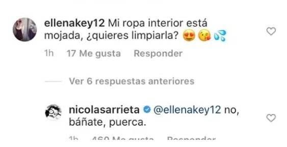 Así respondió Nicolás Arrieta a mujer que se le insinuó íntimamente en redes