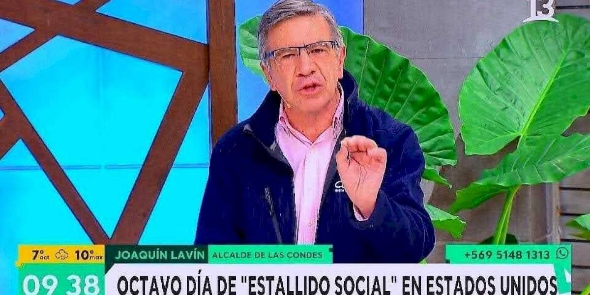 """""""Hace dos días esto era un meme"""": la reacción en redes sociales ante la aparición de Lavín en Canal 13 comentando las protestas en Estados Unidos"""