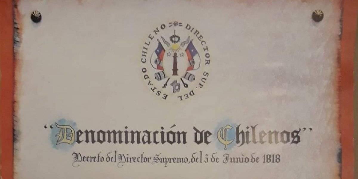 """¿Sabían que desde hace 202 años somos oficialmente """"chilenos""""? O'Higgins firmó el decreto de la denominación un 3 de junio"""