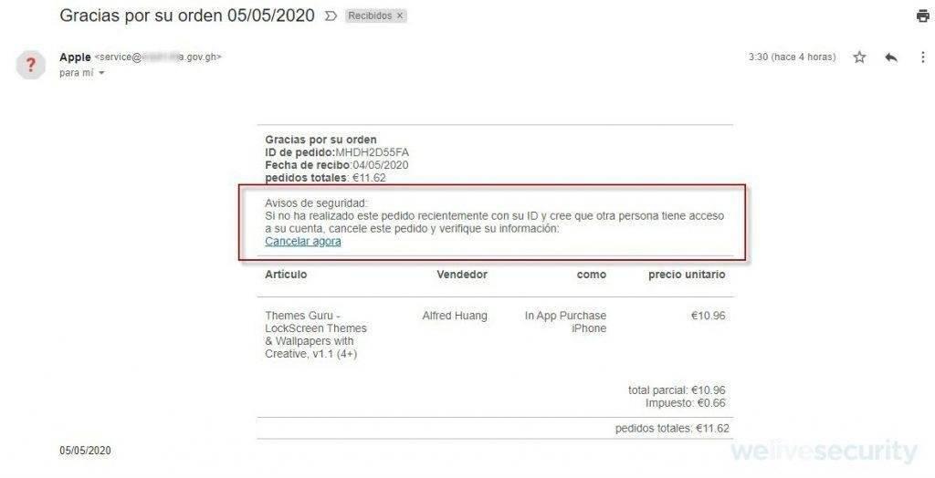 E-mail falso aponta compra de aplicativo que nunca aconteceu Reprodução