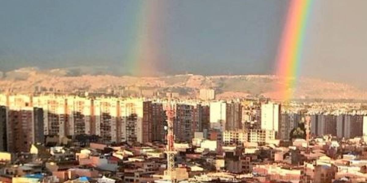 Ciudadanos reportan la aparición de un doble arcoiris en Bogotá