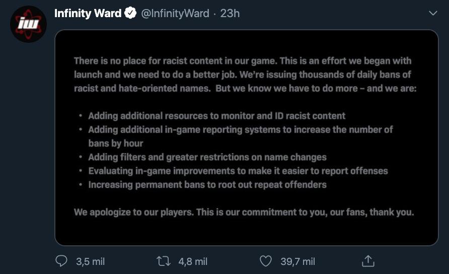 Call of Duty racistas