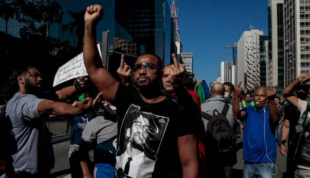 Grupos antifascistas se manifestaron el domingo en Sao Paulo / Foto: Getty Images