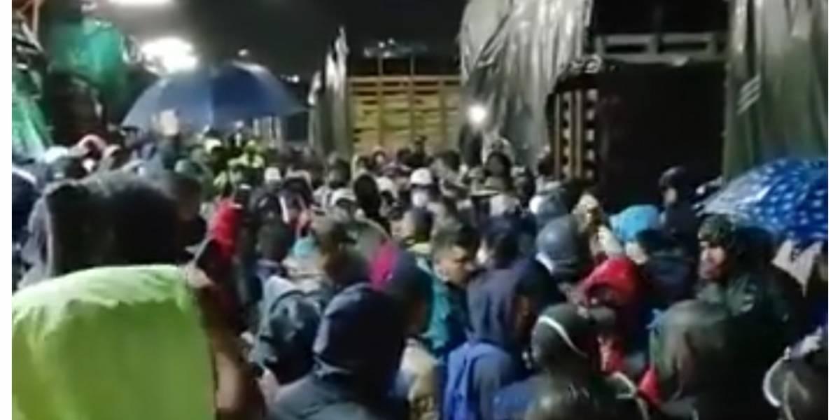 En medio de las protestas en Corabastos, trabajador se desplomó y convulsionó