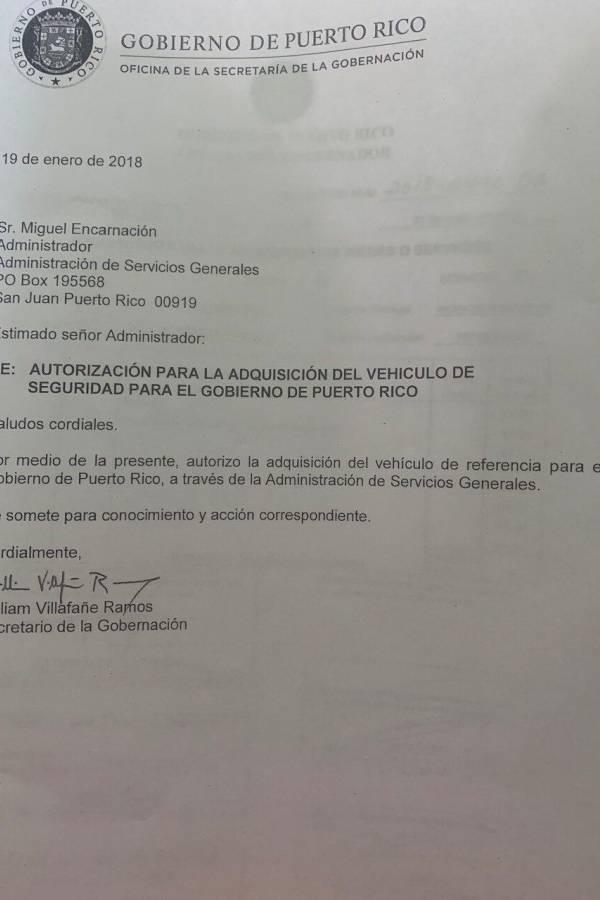 Carta William Villafañe a Miguel Encarnación