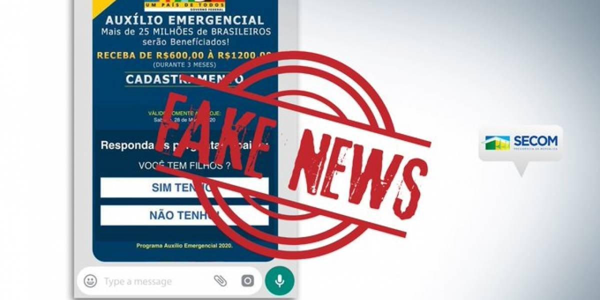 Governo alerta que link para agendar auxílio emergencial que circula nas redes é golpe