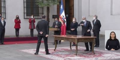 Monckeberg no se acercó a Piñera tras jurar / Foto: Captura