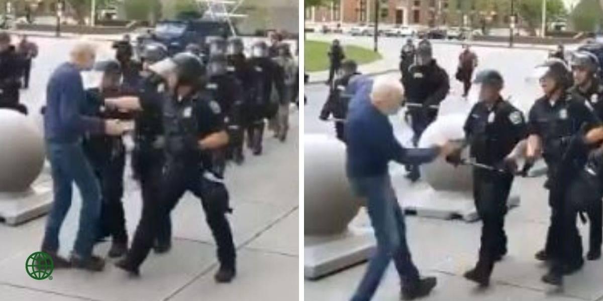 (VIDEO) Policía ataca a hombre de 75 años provocándole grave lesión en la cabeza