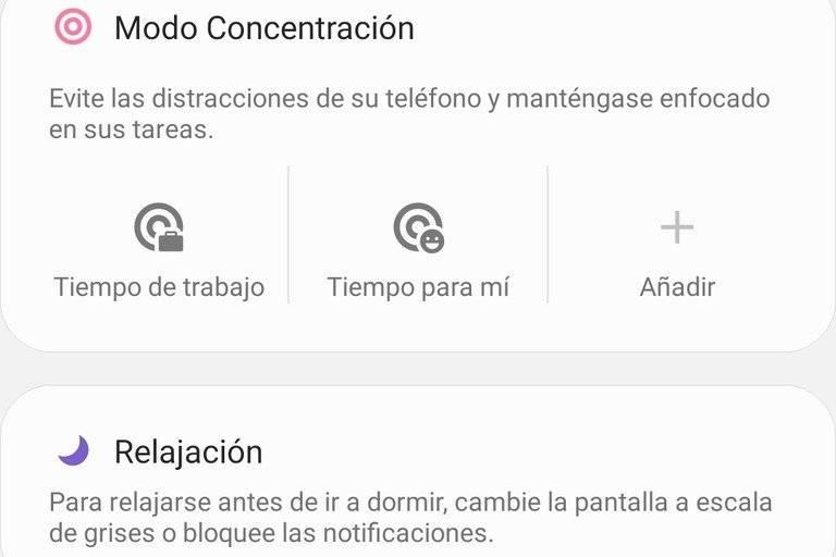 Modo Concetración Android