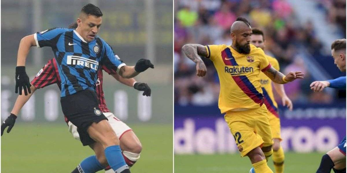 Vuelve el fútbol en Italia y España: la programación de Alexis y Vidal para este fin de semana