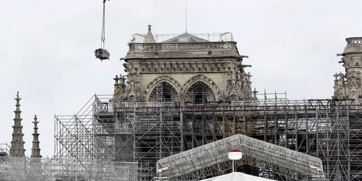 Reanudan trabajos de restauración en la catedral Notre Dame