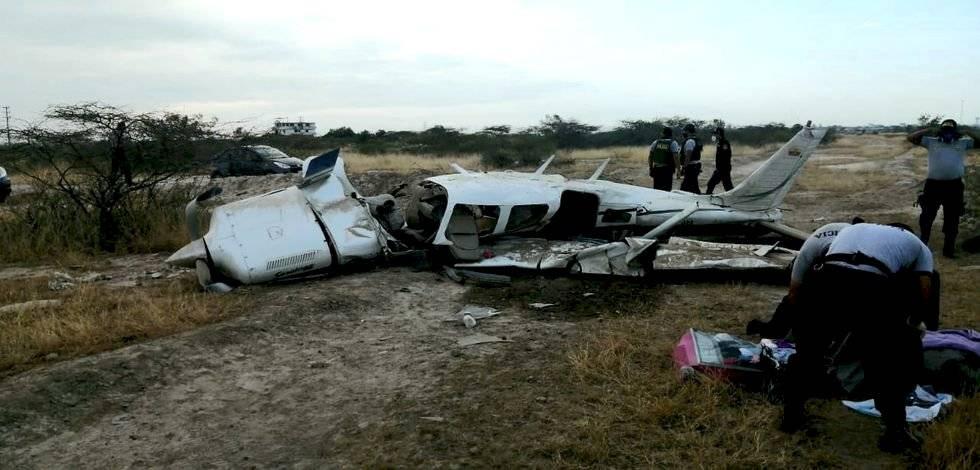 Avioneta ecuatoriana que se accidentó en Tumbes, Perú