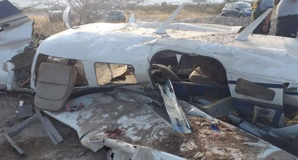 Avioneta ecuatoriana que se accidentó