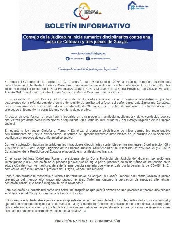 BOLETIN CONSEJO DE LA JUDICATURA