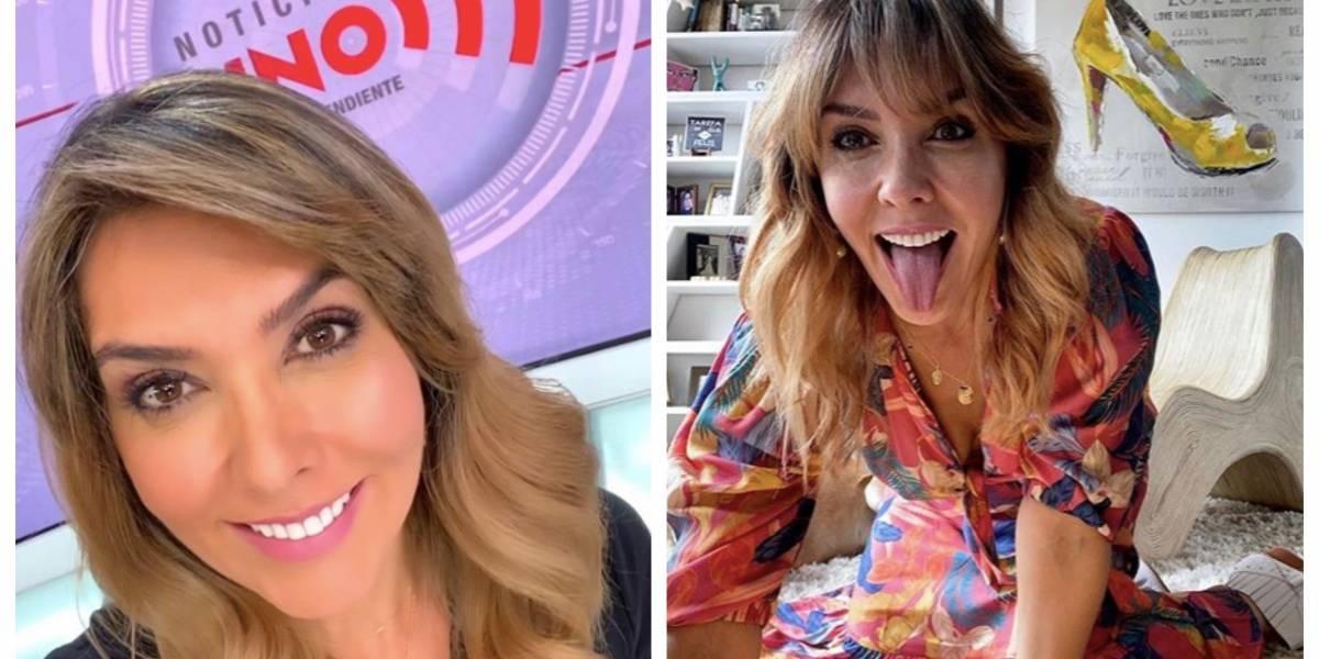 La curiosa petición que le hacen a Mónica Rodríguez luego de verla en falda en 'Noticias Uno'