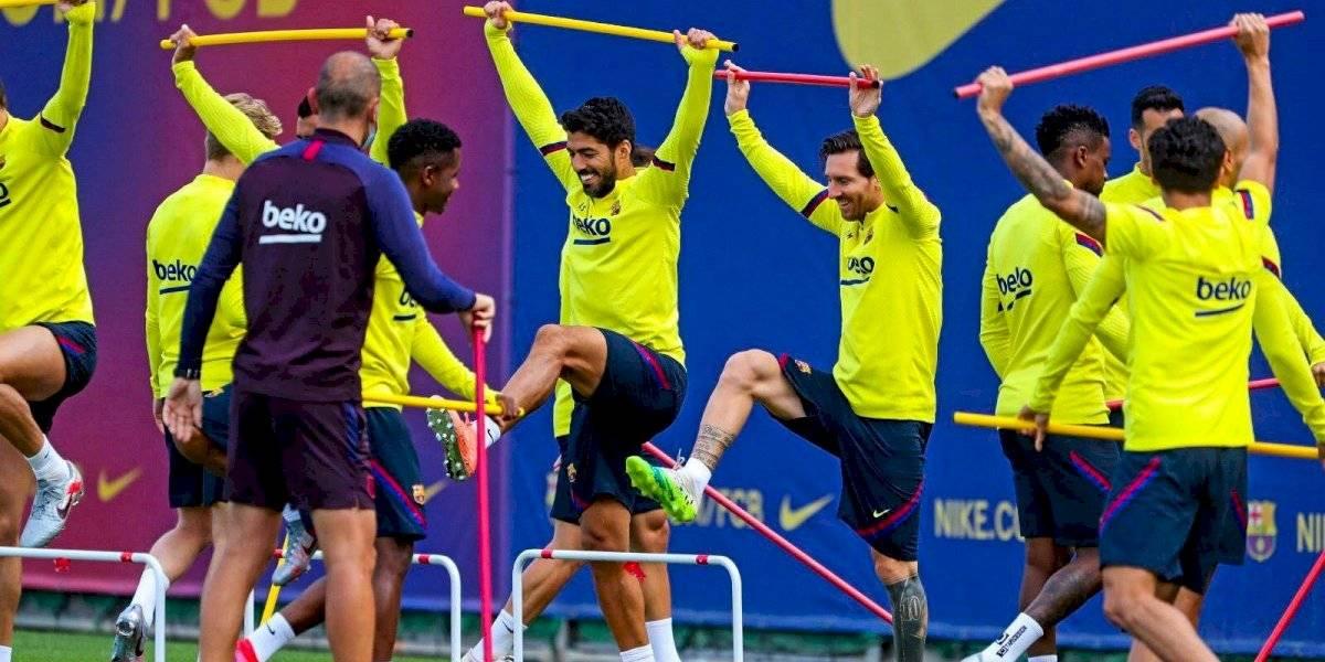 Messi vuelve a entrenar con el grupo y se estima que pueda jugar el sábado