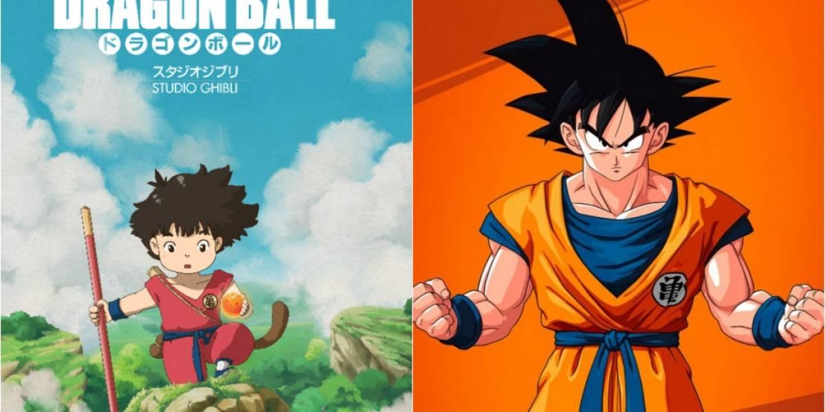 Artista brasileiro cria pôster versão Ghibli para Dragon Ball