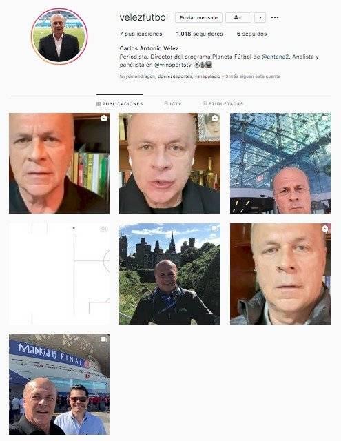 Instagram Carlos Antonio Vélez