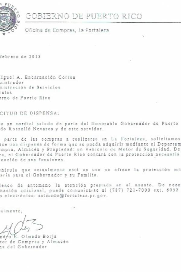 Dispensa guagua Ricardo Rosselló