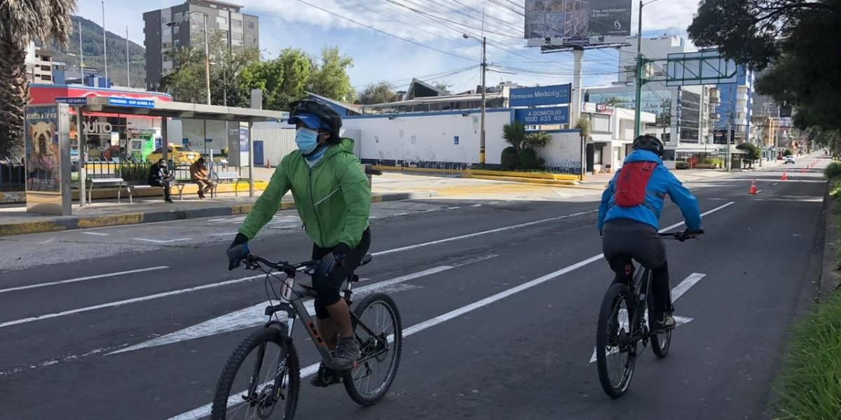 Se habilita ciclovía emergente en el norte de Quito