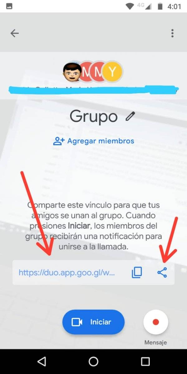Google Duo Grupo Enlace