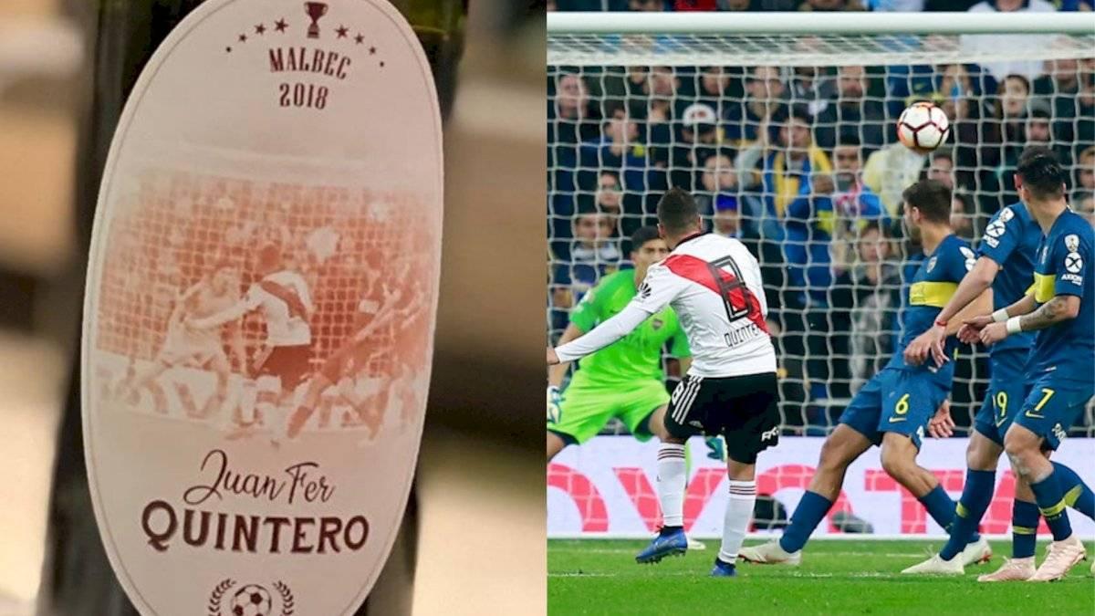 Juan Fernando Quintero sacaría vino con imagen del gol en la final de Copa Libertadores 2018