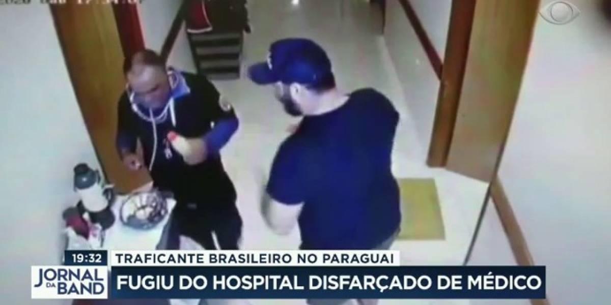 Disfarçado, traficante brasileiro escapa de hospital no Paraguai